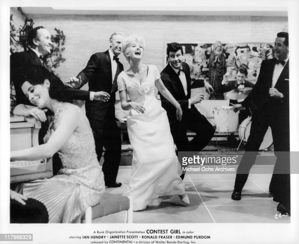 Janette Scott dancing in a scene from the film 'Contest Girl' 1964