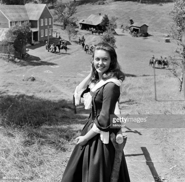 Janette Scott on the set of 'The Devil's Disciple' in Tring Park Hertfordshire 30th July 1958