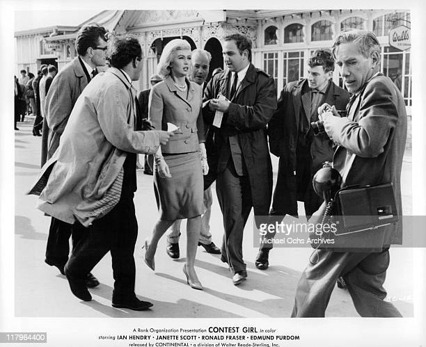 Janette Scott walking in a scene from the film 'Contest Girl' 1964
