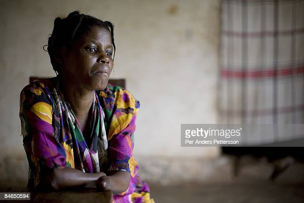 Janette Vumilia age 30 sits in her living room in her small house on October 29 2007 Bukavu DRC Janette was abducted held captive and raped by rebels...