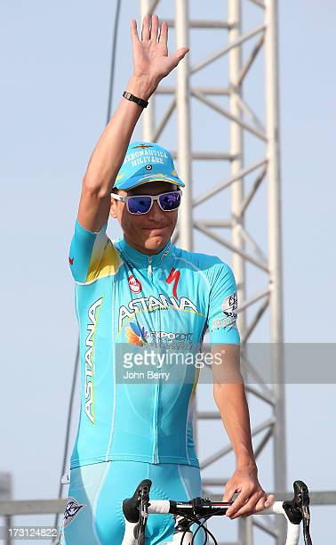 Janez Brajkovic of Slovenia and Astana Pro Team at the Team Presentation prior to the start of the Tour de France 2013 on June 27 2013 in...