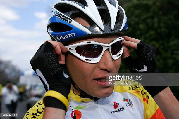 Janez Brajkovic of Slovenia and riding for the Discovery Channel Pro Cycling Team collects himself and heads for the podium after he defended the...