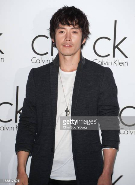 Jang Hyuk attends the Calvin Klein flagship store first anniversary on August 28 2013 in Seoul South Korea