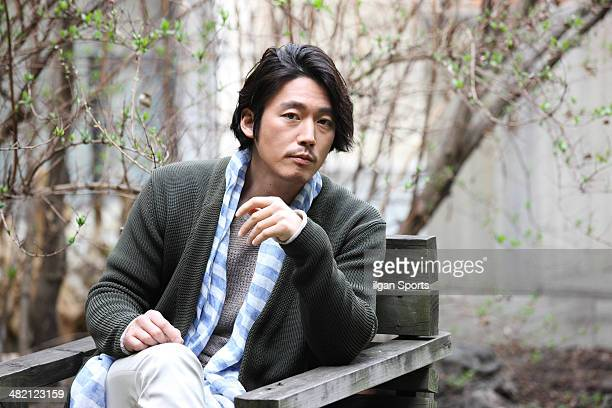 Jang Hyuk poses for photographs on March 28 2014 in Seoul South Korea