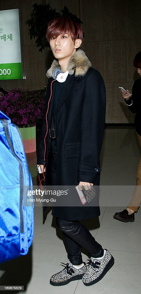 Jang Hyun-Seung of South Korean boy band Beast is seen at Gimpo International Airport on February 6, 2013 in Seoul, South Korea.