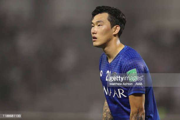 Jang Hyunsoo of Al Hilal during the FIFA Club World Cup 2nd round match between Al Hilal and Esperance Sportive de Tunis at Jassim Bin Hamad Stadium...