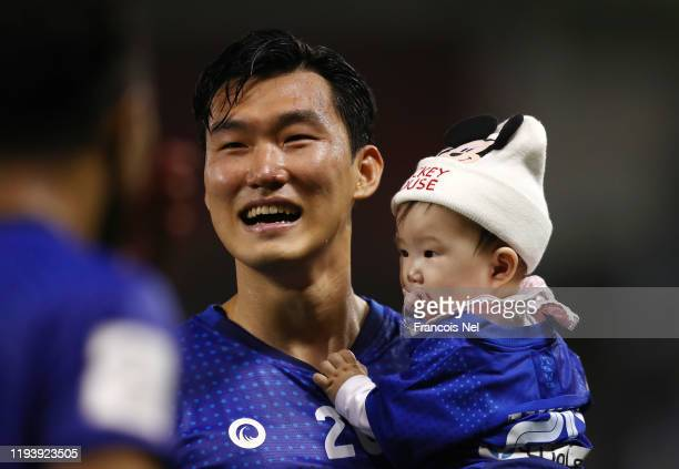 Jang Hyunsoo of Al Hilal SFC celebrates after his sides victory during the FIFA Club World Cup 2nd round match between Al Hilal and Esperance...