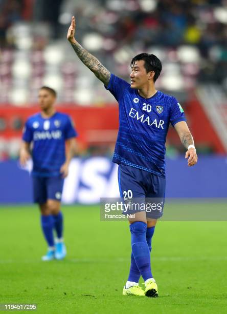 Jang Hyunsoo of Al Hilal SFC celebrates after his team's first goal during the FIFA Club World Cup semifinal match between CR Flamengo and Al Hilal...