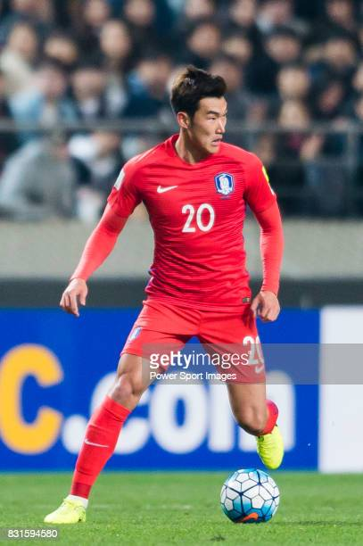 83c52145f Jang Hyunsoo of Korea Republic in action during their 2018 FIFA World Cup  Russia Final Qualification