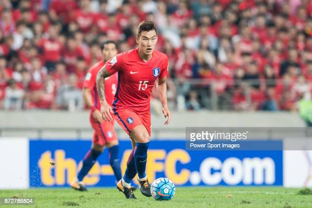 Jang Hyunsoo of Korea Republic in action during their 2018 FIFA World Cup Russia Final Qualification Round Group A match between Korea Republic and...