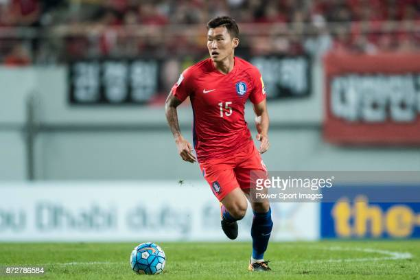 Jang Hyunsoo of Korea Republic reacts during their 2018 FIFA World Cup Russia Final Qualification Round Group A match between Korea Republic and...