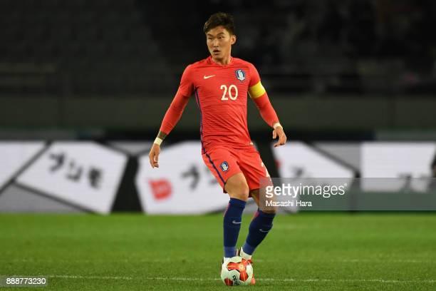 Jang Hyunsoo of South Korea in action during the EAFF E1 Men's Football Championship between South Korea and China at Ajinomoto Stadium on December 9...