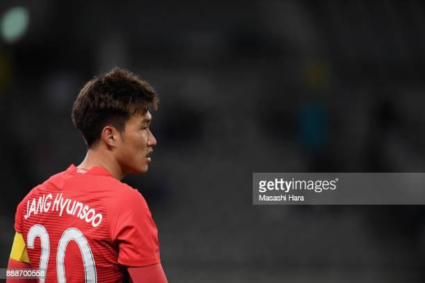 Jang Hyunsoo of South Korea looks on during the EAFF E1 Men's Football Championship between South Korea and China at Ajinomoto Stadium on December 9...