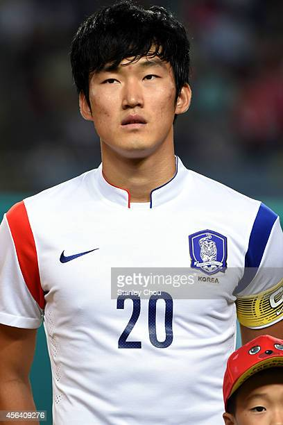 Jang Hyunsoo of South Korea poses during the Football Mens semifinal match between South Korea and Thailand during day eleven of the 2014 Asian Games...
