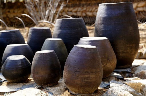 Jangdokdae, Korean traditional Jars - gettyimageskorea
