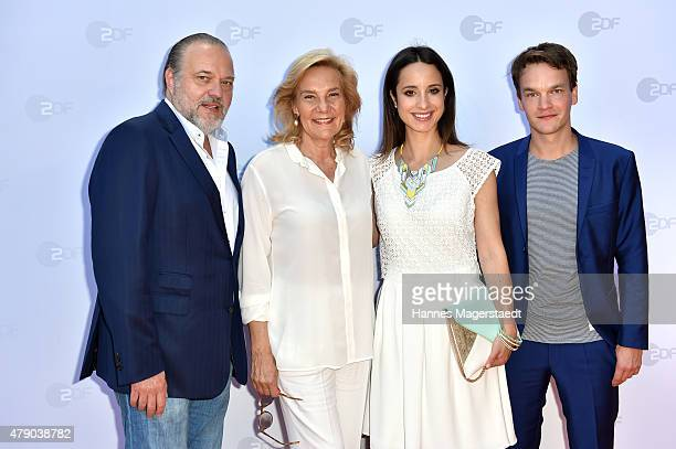 JanGregor Kremp Susanne Porsche Stephanie Stumph and Ludwig Blochberger attend the ZDF reception during the Munich Film Festival at Hugo's on June 30...