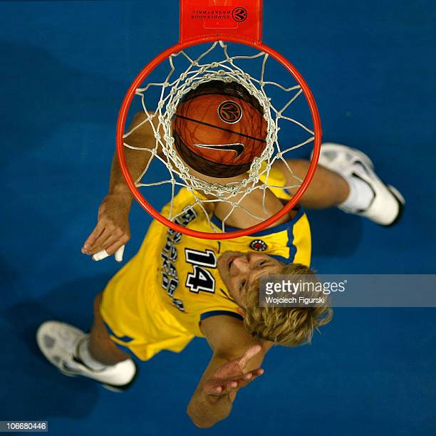 Jan-Hendrik Jagla of Asseco Prokom Gdynia in action during the Turkish Airlines Euroleague Day 4 game between Asseco Prokom Gdynia and Partizan mt:s...