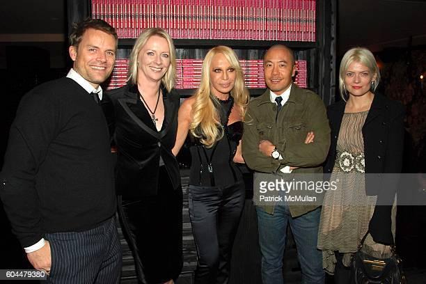 JanHendrik Schlottmann Linda Wells Donatella Versace Derek Lam and Kate Young attend DONATELLA VERSACE Hosts a Private Dinner for Linda Wells to...