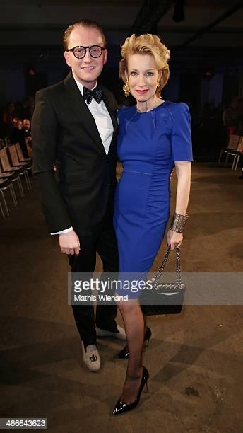 JanHenrik M Scheper Stuke and Birgit von Heinke attend the Thomas Rath fashion show during Platform Fashion Dusseldorf on February 2 2014 in...