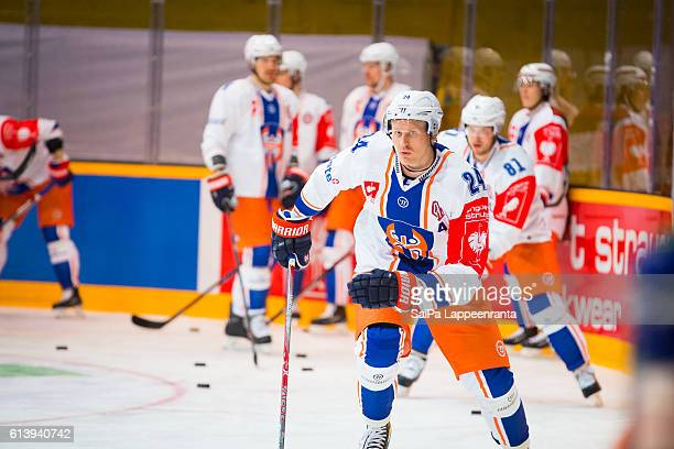 Jani Lajunen of Tampere before the Champions Hockey League Round of 32 match between SaiPa Lappeenranta and Tappara Tampere at Kisapuisto on October...