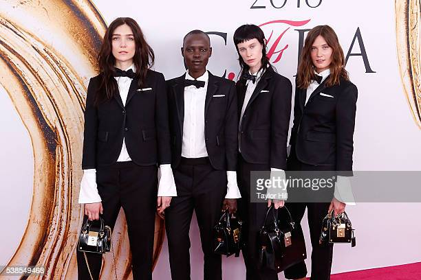 Janice Alida Grace Bol Sarah Abney and Drake Burnette attend the 2016 CFDA Fashion Awards at the Hammerstein Ballroom on June 6 2016 in New York City