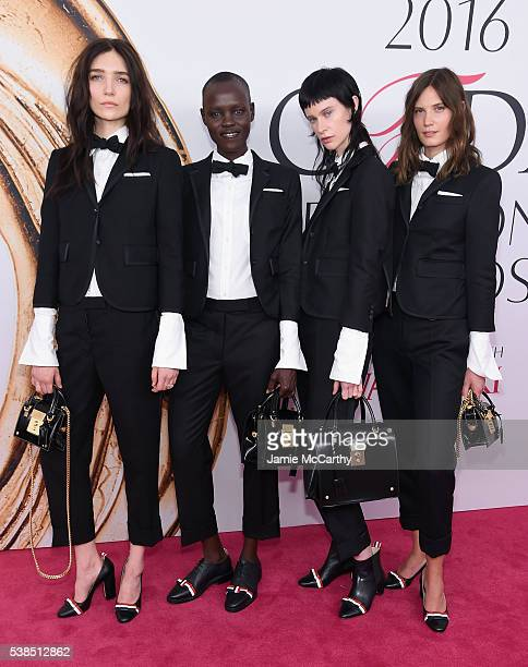 Janice Alida Gracec Bol Sarah Abney and Drake Burnette attend the 2016 CFDA Fashion Awards at the Hammerstein Ballroom on June 6 2016 in New York City