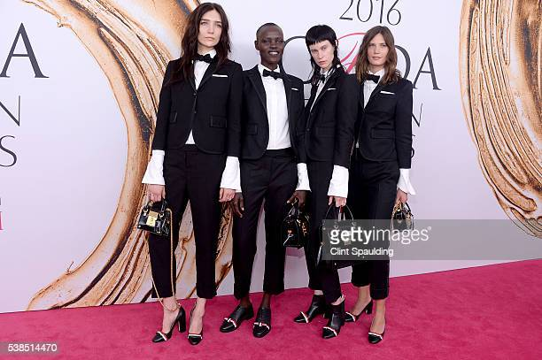 Janice Alida Joseph Grace Bol Sarah Abney and Drake Burnette attend the 2016 CFDA Fashion Awards at the Hammerstein Ballroom on June 6 2016 in New...