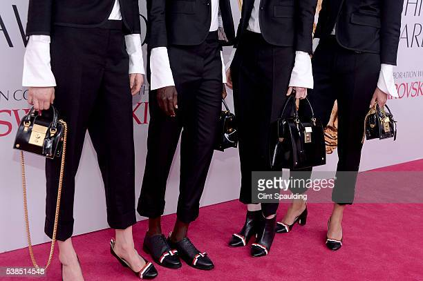Janice Alida Joseph Grace Bol Sarah Abney and Drake Burnette fashion detail attend the 2016 CFDA Fashion Awards at the Hammerstein Ballroom on June 6...