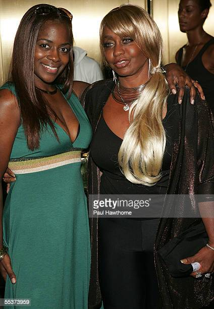 Janice Combs and her daughter Keisha arrive at the Baby Phat Spring 2006 fashion show during Olympus Fashion Week at Radio City Music Hall on...
