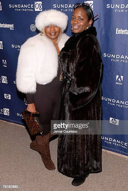 Janice Combs and Keisha Combs attend the premiere of A Raisin In The Sun at the Eccles Theatre during the 2008 Sundance Film Festival on January 23...