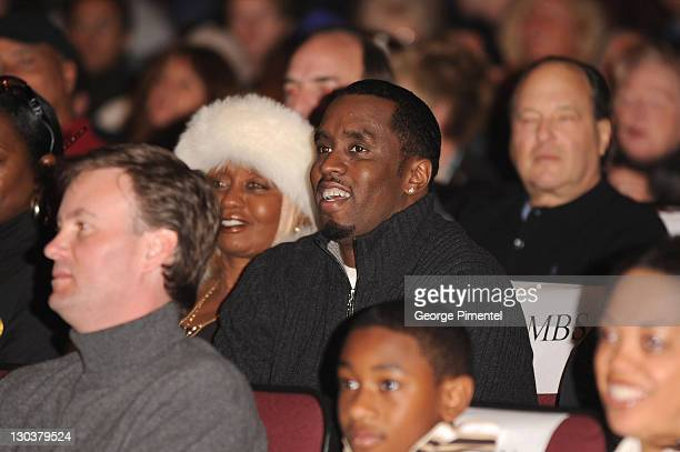 Janice Combs and rapperactor Sean 'Diddy' Combs attend the premiere of 'A Raisin In The Sun' at the Eccles Theatre during the 2008 Sundance Film...