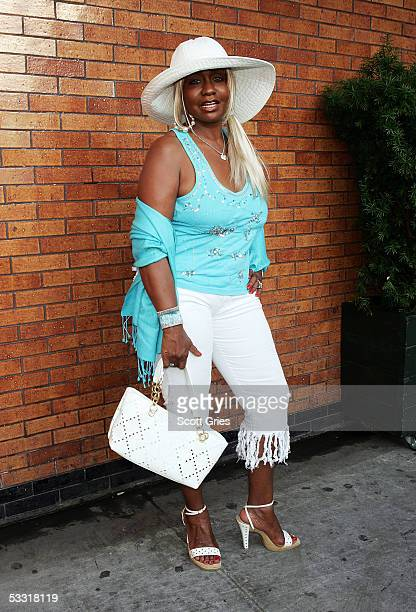 Janice Combs arrives at a fashion show and party to benefit the Make A Wish Foundation at The Park August 2 2005 in New York City
