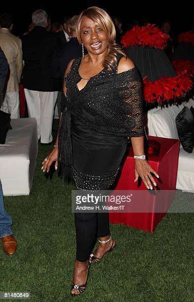 Janice Combs attends the Drinks Dinner and Disco Party the night before the wedding of Ivana Trump and Rossano Rubicondi at the MaraLago Club on...