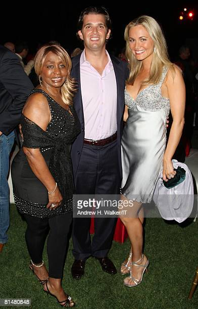 Janice Combs Donald Trump Jr and wife Vanessa Trump attend the Drinks Dinner and Disco Party the night before the wedding of Ivana Trump and Rossano...