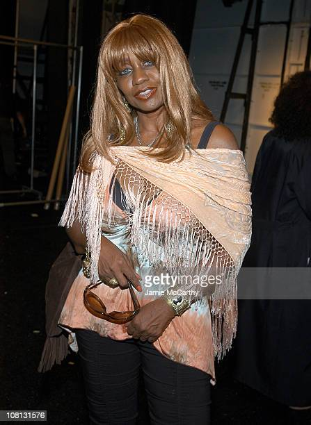 Janice Combs during Olympus Fashion Week Spring 2005 Vivid Collection Diamond Jewelry on Gottex Runway at Theater Tent Bryant Park in New York City...