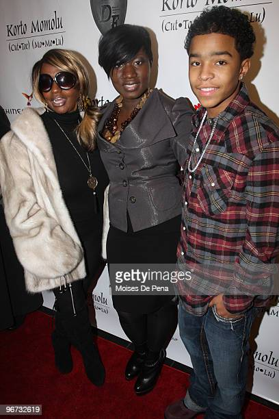 Janice Combs Korto Momolu and Justin Combs attends Korto Momolu Fall 2010 during MercedesBenz Fashion Week at The Union Square Ballroom on February...