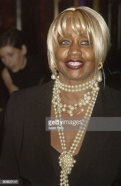 Janice Combs mother of musician Sean Combs arrives at Cipriani 42nd Street to see the Dennis Basso Fall/Winter Fashion Show on May 26 2004 in New...