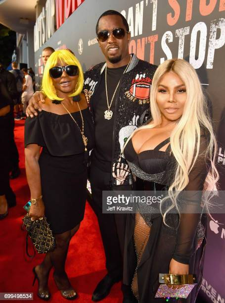 """Janice Combs, Sean """"Diddy"""" Combs and Lil' Kim attend the Los Angeles Premiere of Apple Music's CAN'T STOP WON'T STOP: A BAD BOY STORY at The WGA..."""
