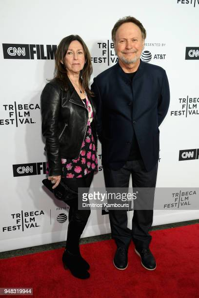 Janice Crystal and Billy Crystal attend the Opening Night Gala of 'Love Gilda' 2018 Tribeca Film Festival at Beacon Theatre on April 18 2018 in New...
