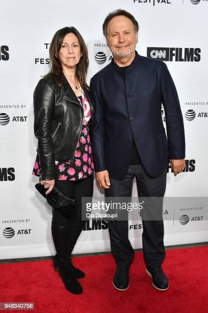 Janice Crystal and Billy Crystal attend the opening night gala of Love Gilda during the 2018 Tribeca Film Festival at Beacon Theatre on April 18 2018...
