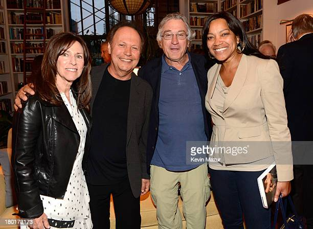"""Janice Crystal, Billy Crystal, Robert DeNiro and Grace Hightower attend the publication party for """"Still Foolin' Em"""" By Billy Crystal at Private..."""