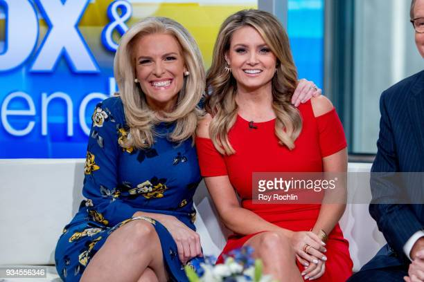 Janice Dean and Jillian Mele of Fox Friends discusses 'Maroln Bundo's a day in the life of The Vice President' with Charlotte and Karen Pence at Fox...