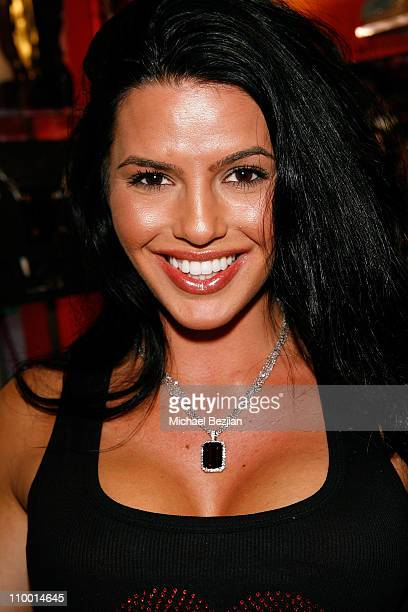 Janice Dickinson Agency model CC Fontana attends the Launch Party for Shoes for Stars on April 8 2008 in Los Angeles CA
