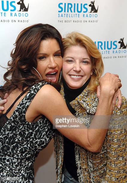 Janice Dickinson and Candace Bushnell during Jamie Foxx to Launch The Foxxhole Exclusive Urban Comedy and Entertainment Channel on SIRIUS Satellite...