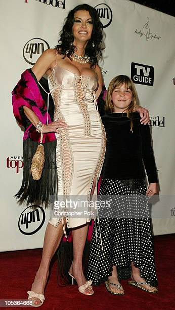 Janice Dickinson and daughter Savannah during America's Next Top Model Season 2 Finale Party at Key Club in Hollywood California United States