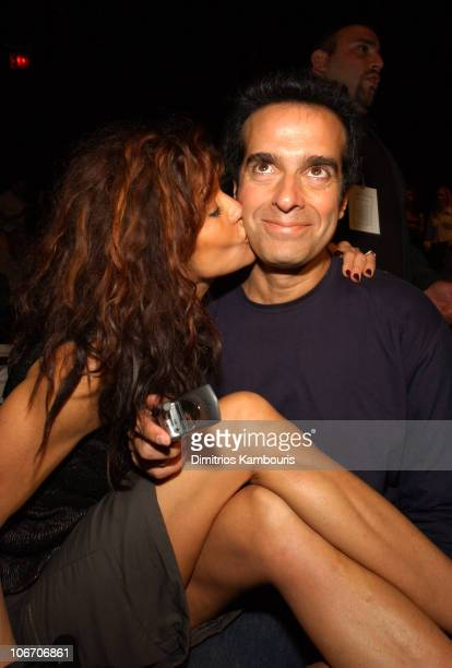 Janice Dickinson and David Copperfield during MercedesBenz Fashion Week Spring Collections 2003 Carlos Miele Show Front Row and Backstage at Bryant...