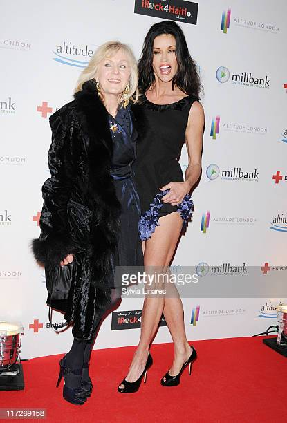 Janice Dickinson and guest attend The Brit Awards Screening Party and Auction for Haiti held at Altitude on February 16, 2010 in London, England.
