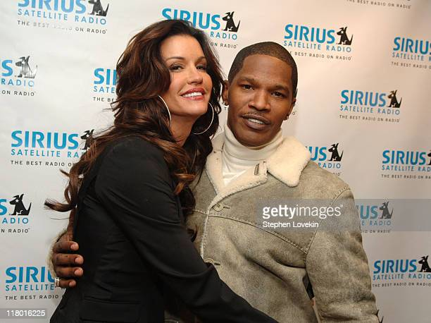 Janice Dickinson and Jamie Foxx during Jamie Foxx to Launch The Foxxhole Exclusive Urban Comedy and Entertainment Channel on SIRIUS Satellite Radio...