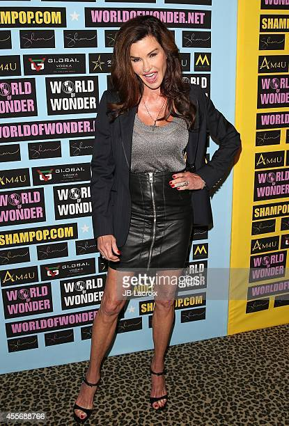 Janice Dickinson attends a private art exhibition of Hollywood's favorite Pop Culture artist Sham Ibrahim on September 18 in Hollywood, California.