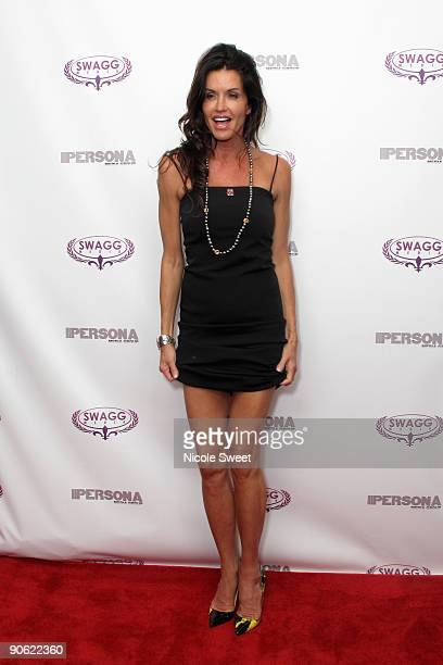 Janice Dickinson attends the Persona magazine launch party at the The Griffin on September 11 2009 in New York City